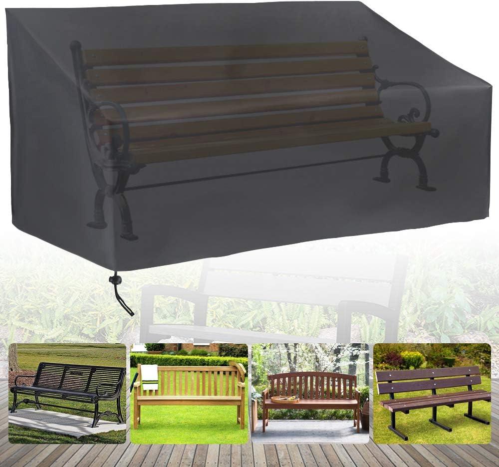 impermeabile in tessuto Oxford traspirante anti UV Copertura per panca da giardino a 2 posti antivento resistente agli strappi
