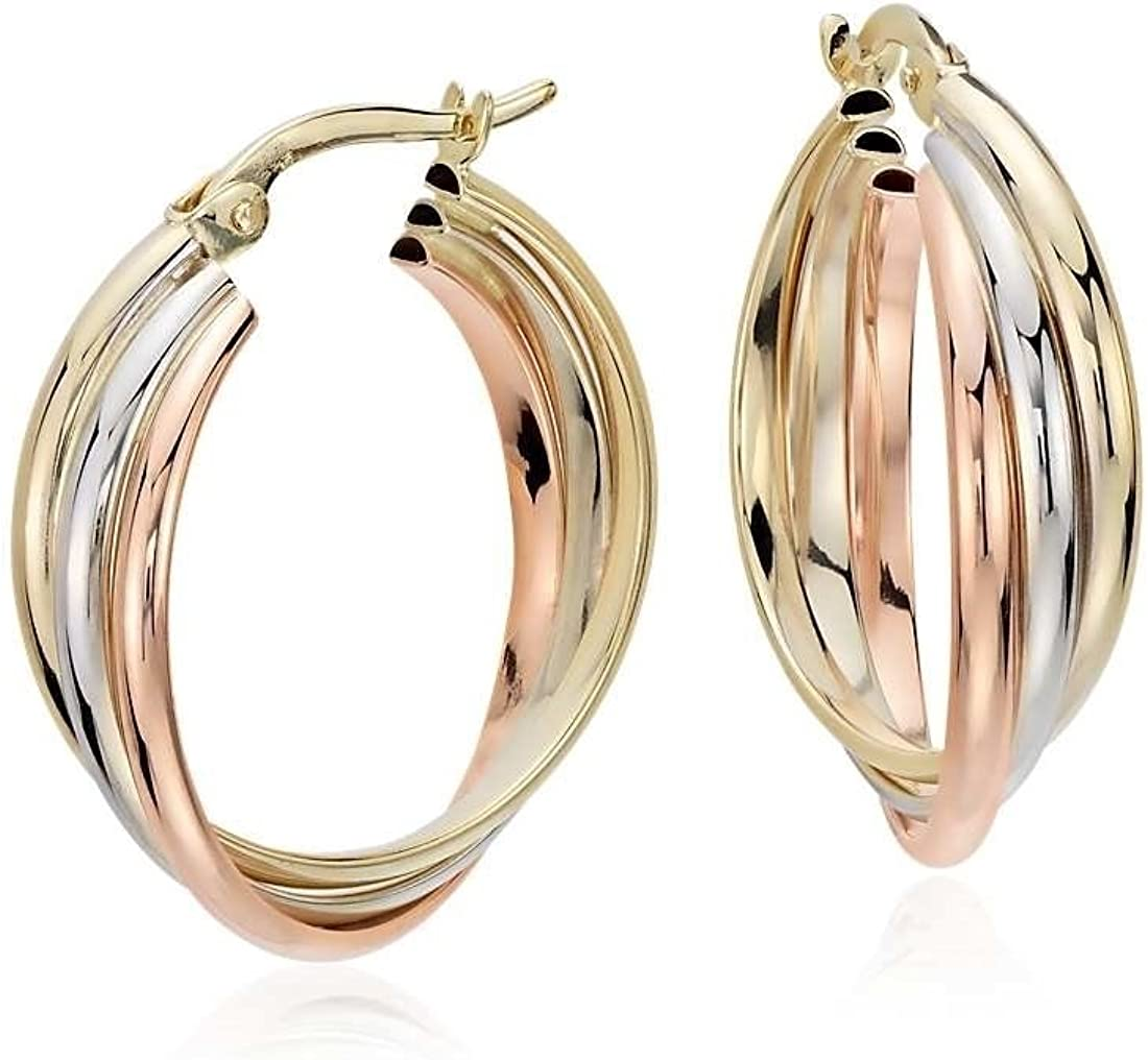Free Shipping New MCS Jewelry 14k Gold Tri-Color Triple 0.80