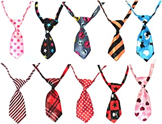 Paialco 10/PCS Necktie for Dog Cat Pet Tie Collar Assorted