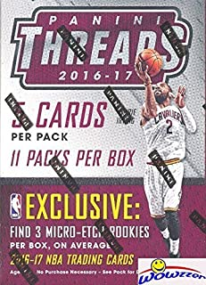 2016/2017 Panini Threads NBA Basketball EXCLUSIVE Factory Sealed Retail Box with (3) MICRO-ETCH ROOKIES! Look for Rookies & Autographs of Brandon Ingram, Jaylen Brown,Devin Booker & Many More! WOWZZER