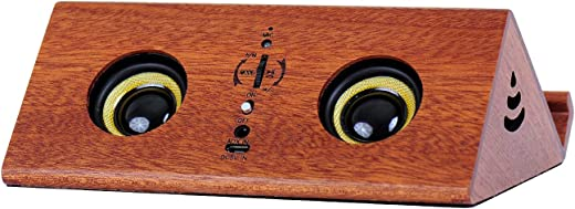 Arcwares 4 in 1 Portable Bluetooth Speaker, with Solid Wood Shape Velvet Base, Multifunctional Bluetooth 5.0 Loud Stereo Booming Bass Microphone…