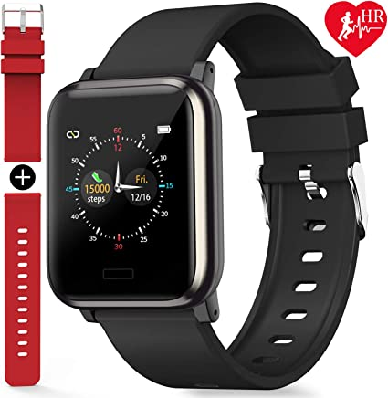 L8star Fitness Tracker, Activity Tracker with Heart Rate Sleep Monitor 1.3inch Color Screen Long Battery Life Include a Replacement Band Compatiable for Fitbit Versa Step Counter for Women Men