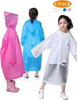 GYORGKSHI Rain Ponchos, 4 Pack Reusable Rain Poncho for Men Women, Perfect for Emergency Waterproof for Theme Parks, Hiking, Camping, Sports Events and Rainy Outdoors