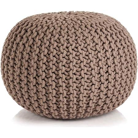 altezza 30 cm cuscino da pavimento antracite. Casamia Pouf effetto maglia grossa diametro 45 cm sgabello rotondo sgabello a cuscino per sedersi