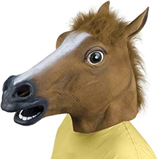Queenshiny Latex Horse Head Mask
