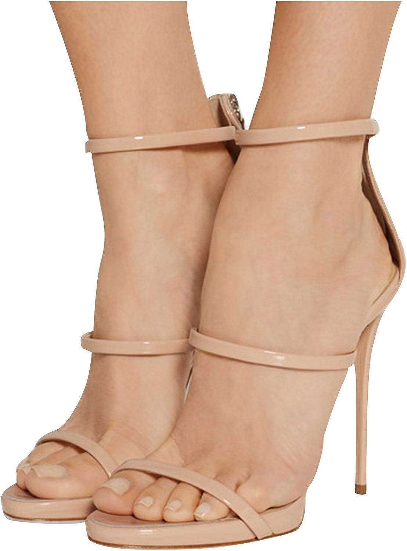 Kevin Fashion KLSDN203 Women's Stiletto Patent Leather Club Party Evening Sandals