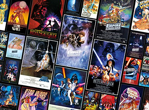 1000-Piece Buffalo Games Star Wars Puzzles: Collage Original Trilogy Posters $10 & More