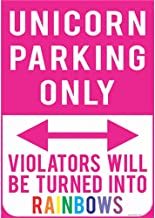 Unicorn Parking ONLY Metal Sign Home Decor Wall Art Garage Art Great Gift Man Cave Plasma Cut Steel Sublimated Rustic Sign Birthday Gift Sign