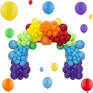 Rainbow Balloons Garland Kit 90Pcs Mixed Size 5/12/18 Inch Assorted Color Balloons Latex Balloon Party Balloons for Birthd...