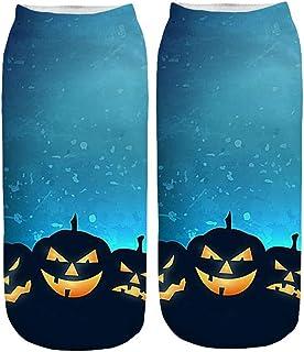 Novelty Ankle Socks, Toamen Men Women Unisex 3D Halloween Printed Gift Sports Casual Funny Socks, Comfortable, Everyday, B...