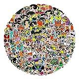 YMSD 100 Stück Power Anime Aufkleber Puff Polizistin Cartoon Europäische und Amerikanische Animation Niedlich Kinder Handy Wasserdicht Gepäck Aufkleber