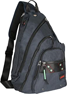 Sling Backpack, Sling Bag for Laptop, Crossbody Bag for Men, Larswon Shoulder Bag for Women, Laptop Backpack, Backpack Blue