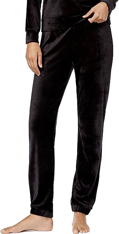 Alfani Velvet Pajama Pants Women Black XXL