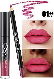 Xiton 2PCS / SET brillo de labios Perfilador Set lápiz labial duradero largo mate impermeable líquido del lustre lápiz de ...