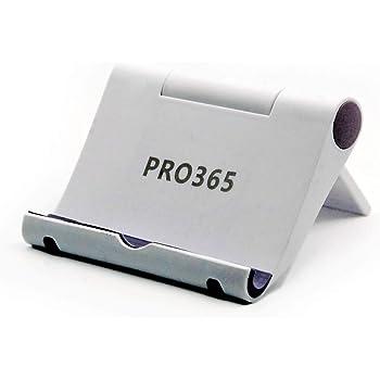 PRO365® 2 White Mobile Holder/180 Degree Table/Desk/Staff/Landscape Videos/Charging Stand/Adjustable Mobile Holder (2 Pack)