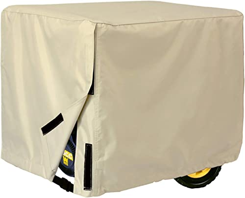 Porch Shield Waterproof Universal Generator Cover 35 x 26 x 28 inch, for Most Generators 5000-12000 Watt, Light Tan