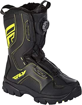 Fly Racing Marker Snow Boots Black//Hi-Vis