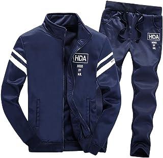 Tracksuit Sets, NRUTUP Mens Zipper Leisure Tops Pants Jackets & Coats Clothing Active Sports Running Jogging Activewear