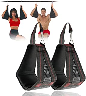 wonderfulwu Padded Hanging AB Straps,  1 Pair AB Sling Suspension Hanging Straps Belts Abdominal Muscles Training Pull Sit Ups Chin-up Bar Mounted Crossfit Muscles Carver
