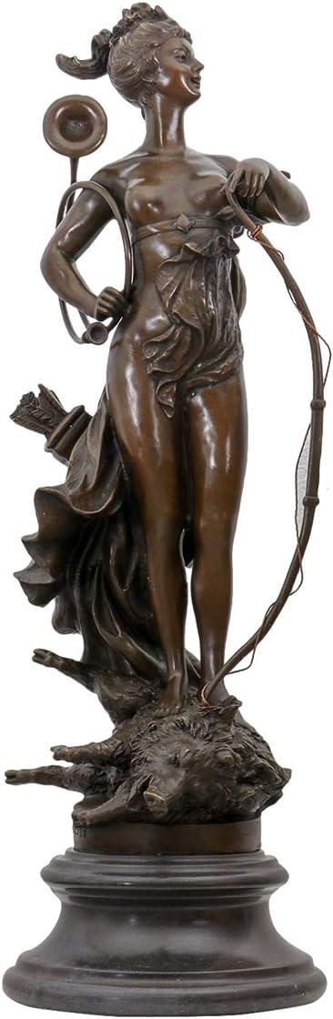 Scultura di bronzo anticato diana dea caccia  figura statua di bronzo 68cm aubaho B0751KFBCY