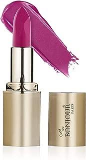 Bonjour Paris Coat Me Crème Lipstick Vitamin E Enriched Long Stay Super Smooth and Soft, Maroons & Purples (Raspberry Shine) 4.2 gm