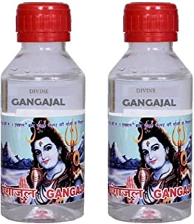 Pure Ganga Jal Gangajal Holy Water 100ml (Pack of 8) Positive energy religious ceremony