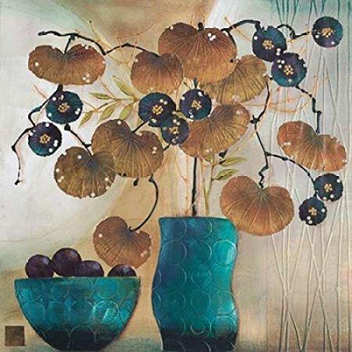 The Poster Corp Margaret Hughlock – Raku Bowl and Vase Kunstdruck (30,48 x 30,48 cm)