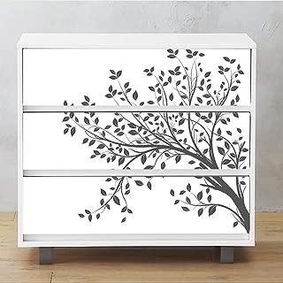 Alwayspon 3Pcs MALM Dresser Sticker, Peel and Stick Furniture Stickers/Decals, Removable Furniture Skin, 31.6