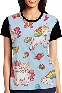 Sugar Skull Womens Casual Crewneck T-Shirt