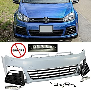 Advan-Emotion EAX Compatible with Volkswagen VW Golf GTI 2010 2011 2012 2013 2014 MK6 VI Replacement for R20 Style Front Bumper Cover Kit 10 11 12 13 14