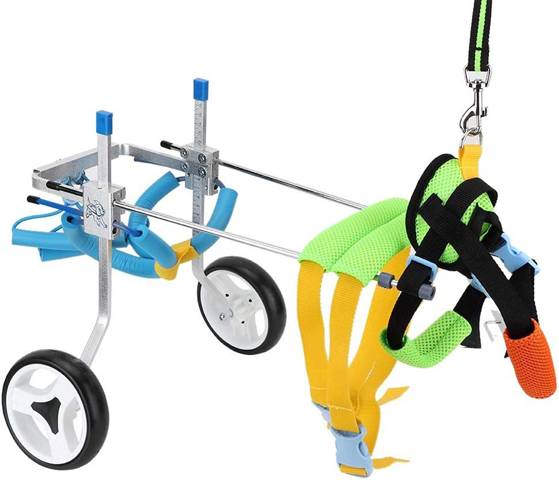 Pssopp Dog Wheelchair Adjustable Pet Wheelchair Light Weight Easy