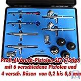 6 Airbrush Pistolen Set - 2