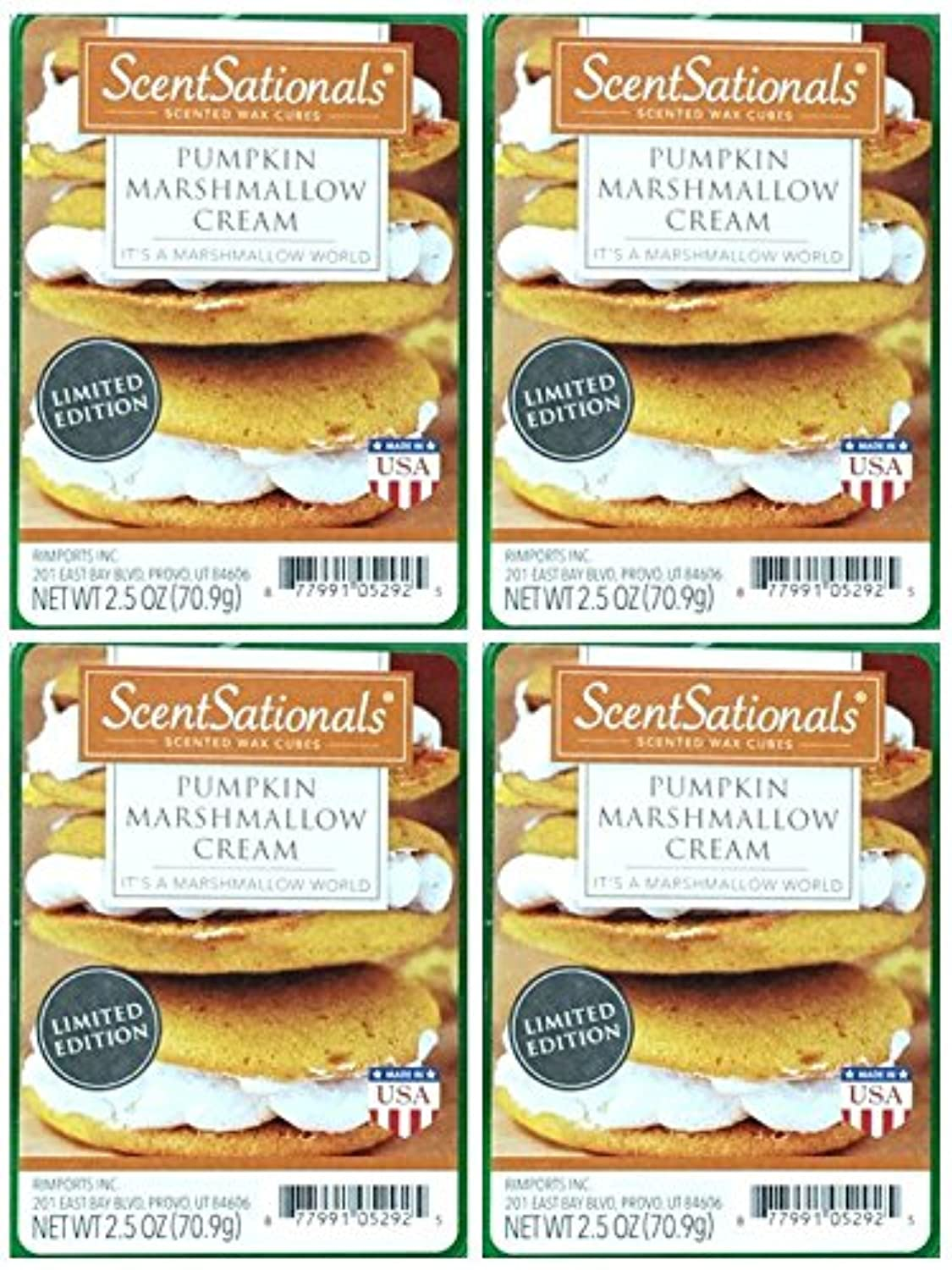 ScentSationals Pumpkin Marshmallow Cream Wax Cubes - 4-Pack