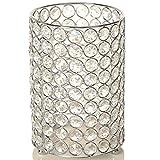 VINCIGANT Portavelas de Vidrio Metálico Ideal para Aromaterapia, Bodas, Linternas, Jardines de Velas con luz de té Votiva, Decoración navideña