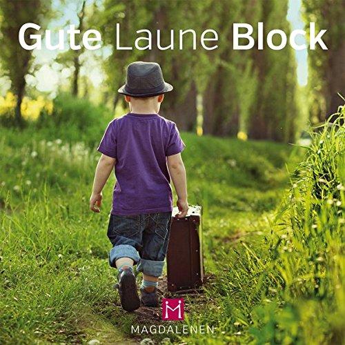 Gute Laune Block ''Bub mit Koffer