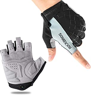 ROCK BROS Bike Gloves Cycling Gloves Half Finger Men Women Mountain Bike Gloves Bicycle Accessories Workout Gloves Shock-A...