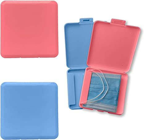 Amazon.com: Mask Case and Portable Mask Organizer, 4 Pack Plastic Mask Storage Bag Dustproof Mask Box Keeper for Mask Pollution Prevention (Only Box): Office Products