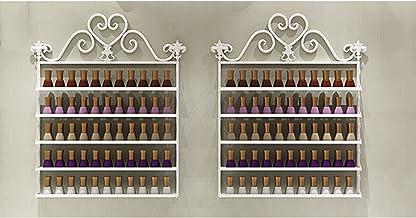Wandmontage Metalen Nagellak Rack, 5 Tier Salon Nagellak Rack Houder/Wall Art Display Plank, Vierkante Rack Olie Fles Opslag