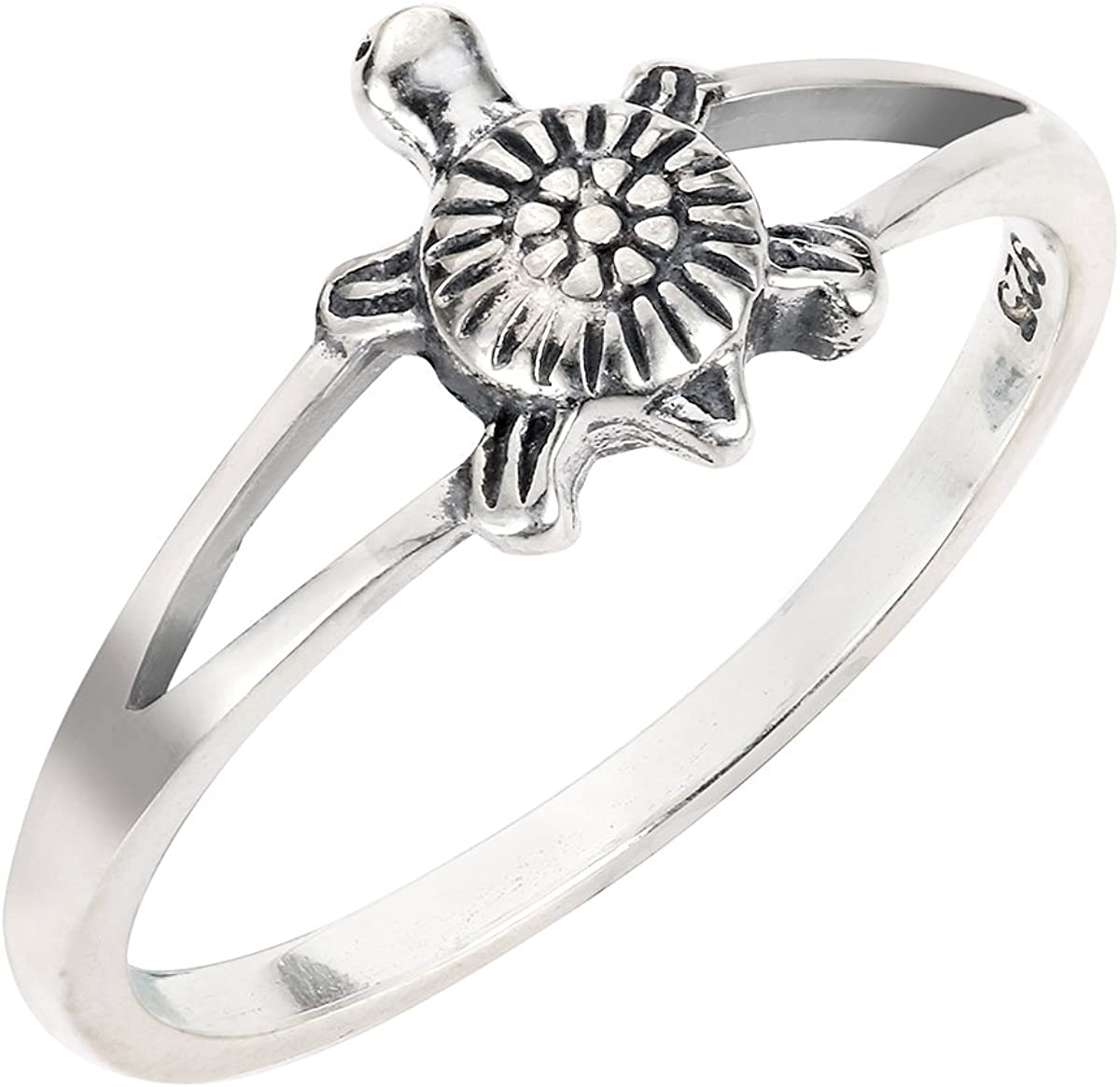 CloseoutWarehouse Sterling Silver Sea Turtle Ring Honu Comes in Over item Ranking TOP10 handling ☆