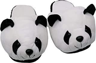 Store2508 Cute Panda Gazing Eyes Indoor Plush Room Slippers for Teenagers & Adults up to Shoe Size 6, Model – MB494, Black...