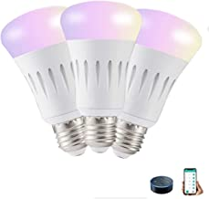E27 Smart Light Bulb RGBW Light Bulbs WIFI App Voice Control Work With Alexa Google Color Changing Time Setting for Home H...