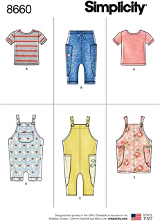 Simplicity Patterns US8660A Toddlers, A (1/2-1-2-3-4)