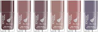 ENJOY COLOR Max Brush Nail Salon Effect Multi Colors Nail Polish Set 6PCs x 10ML G31