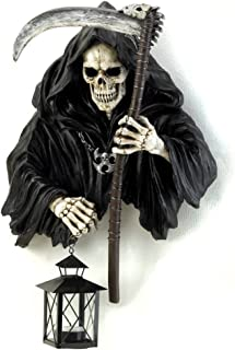 Gifts & Decor Grim Reaper Holding Candle Lantern