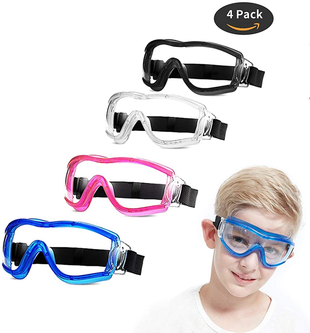 4 Pack Kids Safety Glasses Goggles Eye Multicolor Direct stock discount Children Prote San Jose Mall