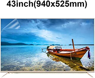 KUYUC Anti Blue Light 43 Inches TV Screen Protector, LED Ultra-Clear Screen Filter, Eye Protection Anti-Glare Filter Film, LCD Anti-Scratch Screen Protector (Color : A)