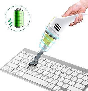 MECO ELEVERDE Mini Aspirateur sans Fil Rechargeable Aspirateur de Table Clavier Nettoyage..