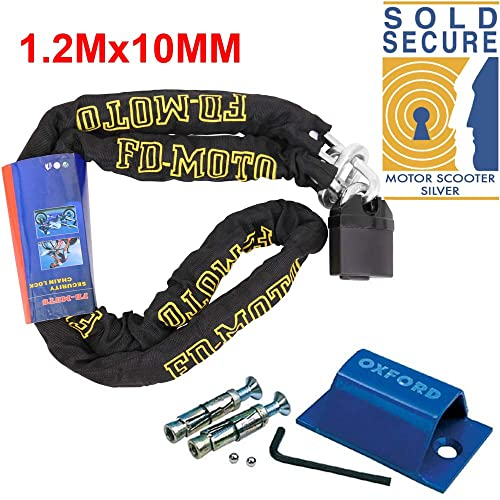 THATCHAM APPROVED 1200MM 120CM 1.2M CHAINLOCK MOTORBIKE MOTORCYCLE CAT3 SECURITY