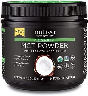 Nutiva Organic MCT Powder, Coconut, 10.6-ounce
