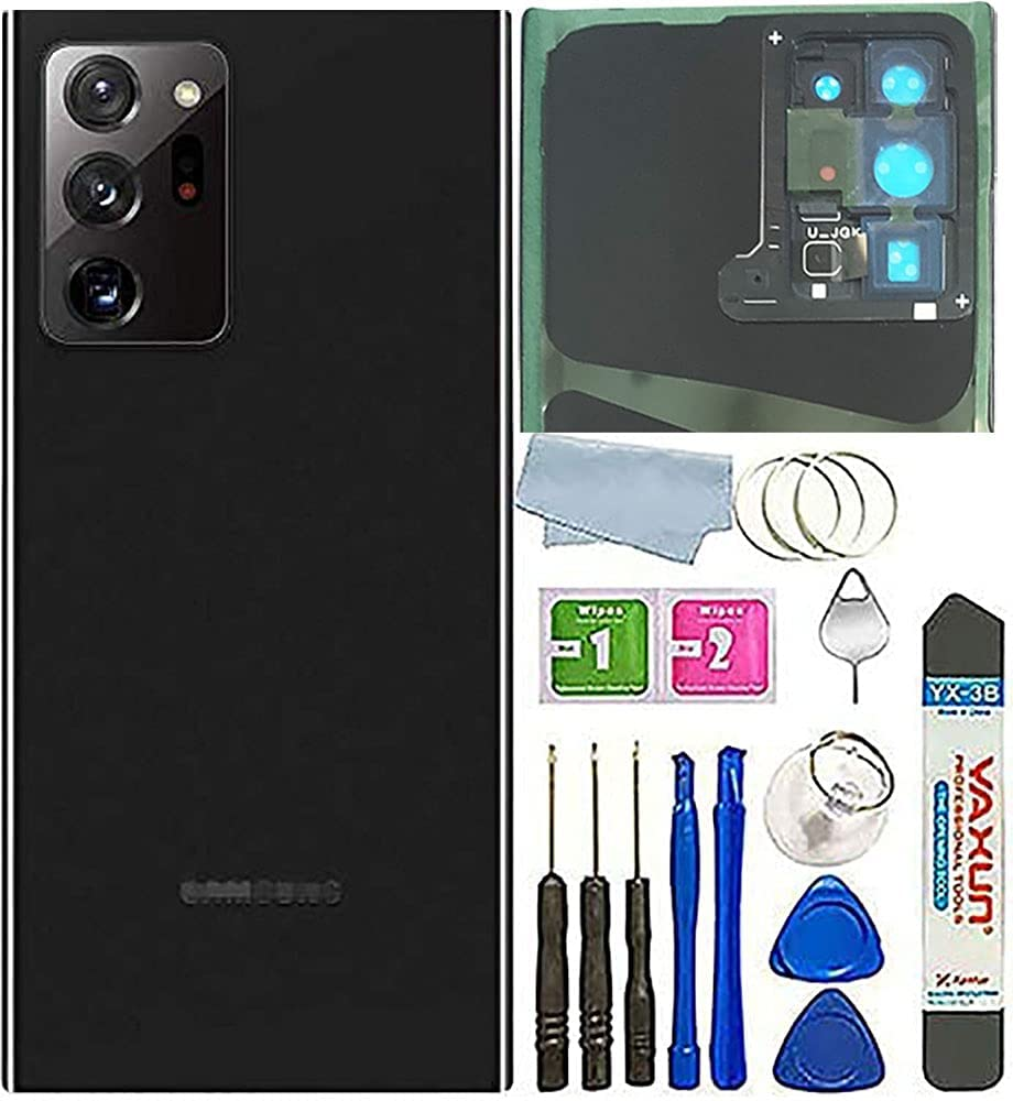 BSDTECH Galaxy Note 20 Ultra Back Glass Cover Housing Door with Tape Parts Replacement for Samsung Galaxy Note 20 Ultra 5G (Mystic Black)